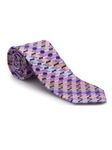 Purple With Multi-Color Geometric Best of Class Tie | Best of Class Ties Collection | Sam's Tailoring Fine Men Clothing