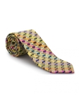 Yellow With Multi-Color Geometric Best of Class Tie | Best of Class Ties Collection | Sam's Tailoring Fine Men Clothing