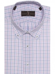 Blue, Pink, Grey & White Plaid Estate Dress Shirt | Robert Talbott Dress Shirts Collection | Sam's Tailoring Fine Men Clothing