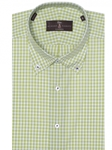 Lime and White Check Estate Tailored Dress Shirt | Robert Talbott Dress Shirts Collection | Sam's Tailoring Fine Men Clothing