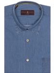 Chambray Solid Texture Anderson II Sport Shirt | Sport Shirts Collection | Sams Tailoring Fine Men Clothing
