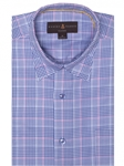 Blue, Pink and White Twill Plaid Anderson II Sport Shirt | Sport Shirts Collection | Sams Tailoring Fine Men Clothing