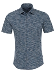 Navy Heather Knit Short Sleeve Shirt | Stone Rose Men Shirts | Sams Tailoring Fine Men Clothing