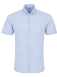 Blue Textured Knit Short Sleeve Shirt | Stone Rose Men Shirts | Sams Tailoring Fine Men Clothing