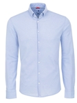 Blue Textured Knit Long Sleeve Shirt | Stone Rose Men Shirts | Sams Tailoring Fine Men Clothing
