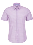Lavender Diamond Print Short Sleeve Shirt | Stone Rose Men Shirts | Sams Tailoring Fine Men Clothing
