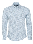 Baby Blue Heather Knit Long Sleeve Shirt | Stone Rose Men Shirts | Sams Tailoring Fine Men Clothing