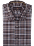 Blue, Brown & White Plaid Crespi III Sport Shirt | Sport Shirts Collection | Sams Tailoring Fine Men Clothing