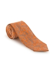 Orange with Blue and White Paisley RT Studio Tie | Robert Talbott Ties | Sam's Tailoring Fine Men Clothing