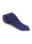Violet and Navy Stripe RT Studio Tie | Robert Talbott Ties | Sam's Tailoring Fine Men Clothing