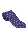 Blue With American Flag RT Print Tie | Robert Talbott Ties | Sam's Tailoring Fine Men Clothing