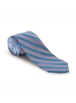 Lavender, Blue and White Stripe RT Atelier Tie | Robert Talbott Ties | Sam's Tailoring Fine Men Clothing