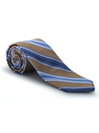 Blue, Brown & White RT Studio Tie | Robert Talbott Ties | Sam's Tailoring Fine Men Clothing