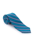 White and Blue Stripe RT Cooper Tie | Robert Talbott Ties | Sam's Tailoring Fine Men Clothing