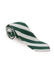 Green & White RT Two Bar Stripe Tie | Robert Talbott Ties | Sam's Tailoring Fine Men Clothing