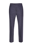 Blue Soft Luxe Flat Front Trouser | Hickey Freeman Men's Collection | Sam's Tailoring Fine Men Clothing