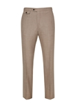Tan Soft Luxe Flat Front Trouser | Hickey Freeman Men's Collection | Sam's Tailoring Fine Men Clothing