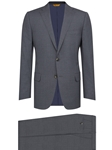 Grey Check Flap Pockets Traveler Infinity Suit | Hickey Freeman Men's Collection | Sam's Tailoring Fine Men Clothing