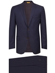 Navy Stipe Side Vents Tashmanian Suit | Hickey Freeman Men's Collection | Sam's Tailoring Fine Men Clothing