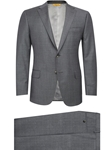 Grey Sharkskin Fully Lined Tashmanian Suit | Hickey Freeman Men's Collection | Sam's Tailoring Fine Men Clothing
