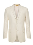 Ivory Side Vents American Silk Jacket | Hickey Freeman Men's Collection | Sam's Tailoring Fine Men Clothing