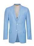 Light Blue Side Vents American Silk Jacket | Hickey Freeman Men's Collection | Sam's Tailoring Fine Men Clothing