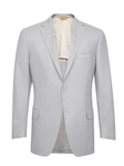 Light Grey Side Vents American Silk Jacket | Hickey Freeman Men's Collection | Sam's Tailoring Fine Men Clothing