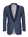Slate Blue Shawl Collar Formal Jacket | Hickey Freeman Men's Collection | Sam's Tailoring Fine Men Clothing
