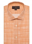 Orange/White Crespi IV Tailored Fit Sport Shirt | Sport Shirts Collection | Sams Tailoring Fine Men Clothing