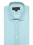 Turquoise Printed Crespi IV Tailored Sport Shirt | Sport Shirts Collection | Sams Tailoring Fine Men Clothing