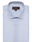 Sky & White Stripe Crespi IV Tailored Sport Shirt | Sport Shirts Collection | Sams Tailoring Fine Men Clothing