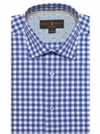 Blue & White Check Crespi IV Tailored Sport Shirt | Sport Shirts Collection | Sams Tailoring Fine Men Clothing