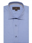 Solid Blue Crespi IV Tailored Fit Sport Shirt | Sport Shirts Collection | Sams Tailoring Fine Men Clothing