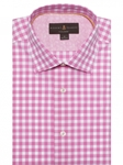 Pink & White Check Crespi IV Tailored Sport Shirt | Sport Shirts Collection | Sams Tailoring Fine Men Clothing