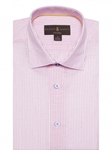 White & Pink Stripe Crespi IV Tailored Sport Shirt | Sport Shirts Collection | Sams Tailoring Fine Men Clothing