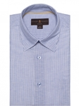 Blue & White Stripe Anderson II Classic Sport Shirt | Sport Shirts Collection | Sams Tailoring Fine Men Clothing