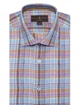 Brown, Blue & Green Plaid Crespi IV Tailored Sport Shirt | Sport Shirts Collection | Sams Tailoring Fine Men Clothing