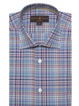 Multi Colored Plaid Crespi IV Tailored Sport Shirt | Sport Shirts Collection | Sams Tailoring Fine Men Clothing