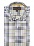 Navy, Green & White Plaid Crespi IV Tailored Sport Shirt | Sport Shirts Collection | Sams Tailoring Fine Men Clothing