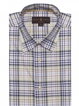 Green, Brown & Navy Plaid Anderson II Sport Shirt | Sport Shirts Collection | Sams Tailoring Fine Men Clothing