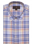 Blue, Yellow & White Plaid Anderson II Sport Shirt | Sport Shirts Collection | Sams Tailoring Fine Men Clothing