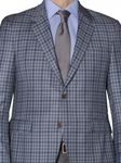 Blue, Grey & Brown Check Ellsworth Sport Coat | Robert Talbott Sports Coats | Sams Tailoring Fine Men Clothing