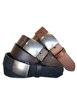 Chesterville Modern Bullet Tip Casual Leather Belt | lejon Leather Belts collection | Sam's Tailoring Fine Men Clothing