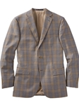 Grey/Yellow Thomas Plaid All Season Worsted Wool Sport Coat | Bobby Jones Sport Coats Collection | Sams Tailoring Fine Men Clothing