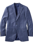 Blue Thomas Grid Double Plaid All Season Worsted Wool Sport Coat | Bobby Jones Sport Coats Collection | Sams Tailoring Fine Men Clothing