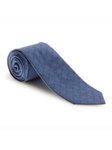Blue and Sky Medallion Spanish Bay Solid Best of Class XL Tie | Robert Talbott Extra Long Ties Collection | Sam's Tailoring