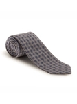 Gray and Blue Geometric Pasley Heritage Best of Class XL Tie | Robert Talbott Extra Long Ties Collection | Sam's Tailoring