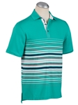 Atlantis XH20 Chest Auto Stripe Short Sleeve Polo | Bobby Jones Polos Collection | Sam's Tailoring Fine Men Clothing