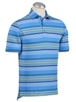 Cabana Blue XH2O Breeze Multi Color Stripe Polo | Bobby Jones Polos Collection | Sam's Tailoring Fine Men Clothing