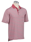 Baroque Rose XH2O Heathered Stripe Short Sleeve Polo | Bobby Jones Polos Collection | Sam's Tailoring Fine Men Clothing